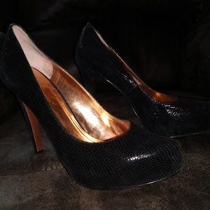 BCBGeneration Shoes - BCBG ENERATION - SHINY BLACK PUMPS - SIZE 8.5